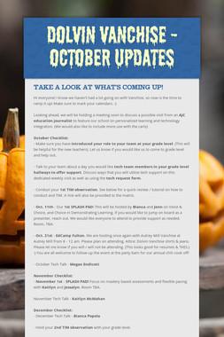 Dolvin Vanchise - October Updates