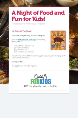 A Night of Food and Fun for Kids!