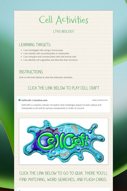 Cell Activities