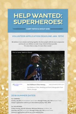 Help Wanted: Superheroes!