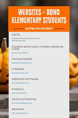 Websites - Bond Elementary Students