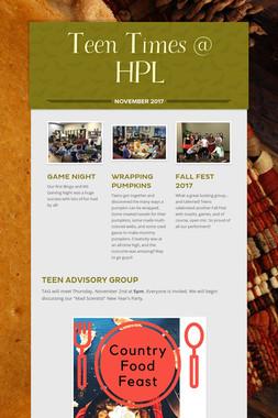 Teen Times @ HPL