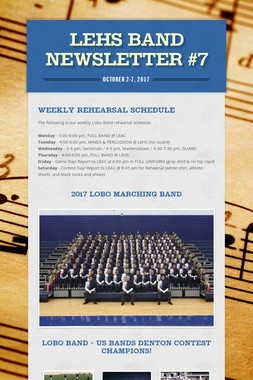 LEHS Band Newsletter #7