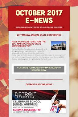 October 2017 E-News