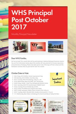 WHS Principal Post October 2017