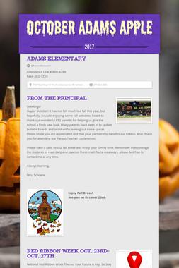 October Adams Apple