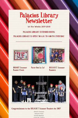 Palacios Library Newsletter