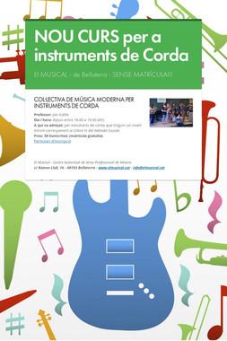 NOU CURS per a instruments de Corda