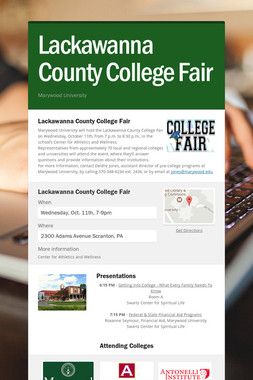 Lackawanna County College Fair