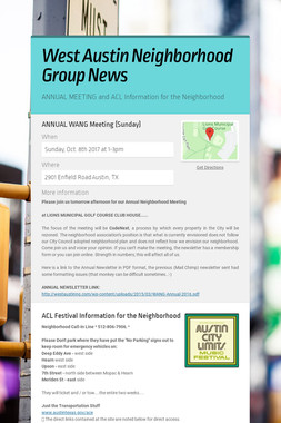 West Austin Neighborhood Group News
