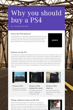 Why you should buy a PS4