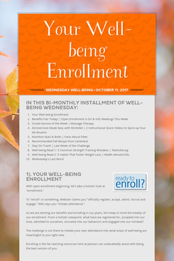 Your Well-being Enrollment