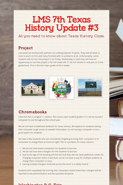 LMS 7th Texas History Update #3