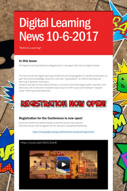 Digital Learning News 10-6-2017