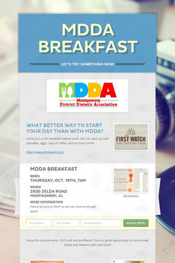 MDDA  Breakfast