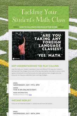 Tackling Your Student's Math Class