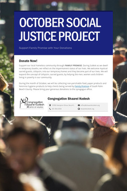 OCTOBER SOCIAL JUSTICE PROJECT