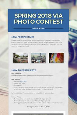 Spring 2018 VIA Photo Contest