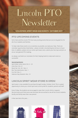 Lincoln PTO Newsletter