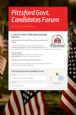 Pittsford Govt. Candidates Forum