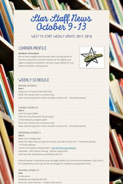 Star Staff News   October   9-13