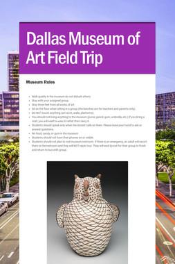 Dallas Museum of Art Field Trip
