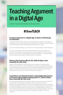 Teaching Argument in a Digital Age