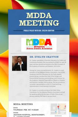 MDDA Meeting