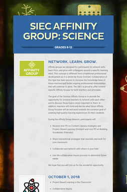 SIEC Affinity Group: Gr7-12 Science