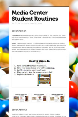 Media Center Student Routines