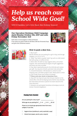 Help us reach our School Wide Goal!