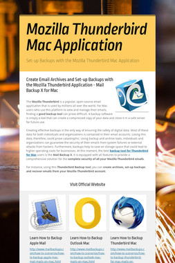 Mozilla Thunderbird Mac Application