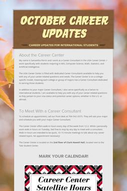 October Career Updates
