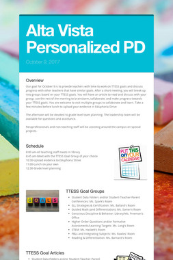 Alta Vista Personalized PD
