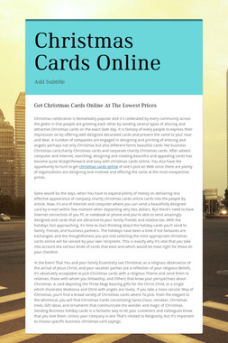 Christmas Cards Online