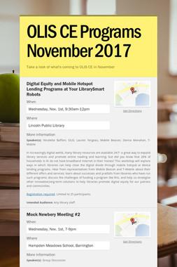 OLIS CE Programs November 2017