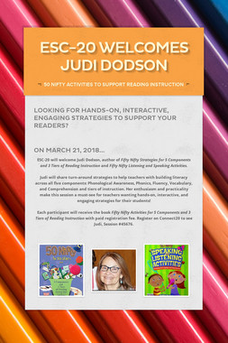 ESC-20 Welcomes Judi Dodson