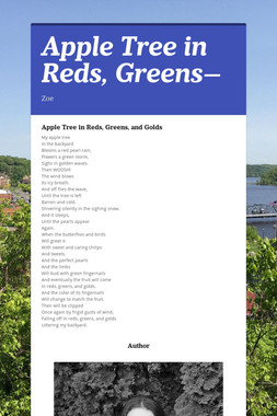 Apple Tree in Reds, Greens—