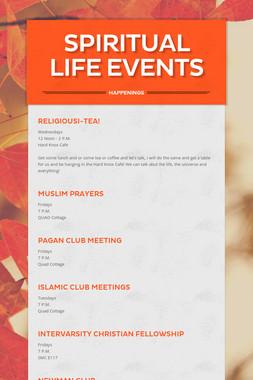 Spiritual Life Events