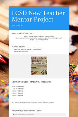 LCSD New Teacher Mentor Project