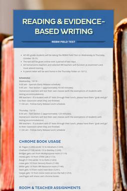 Reading & Evidence-Based Writing