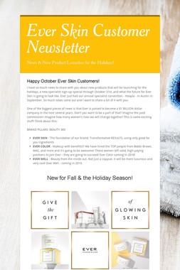 Ever Skin Customer Newsletter
