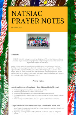 NATSIAC PRAYER NOTES