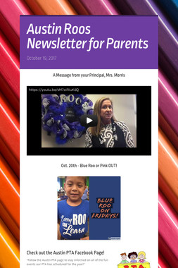 Austin Roos Newsletter for Parents