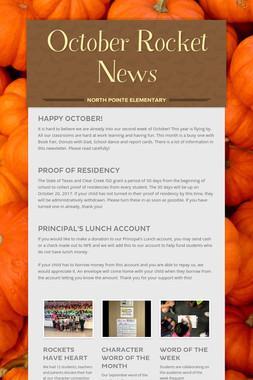 October Rocket News