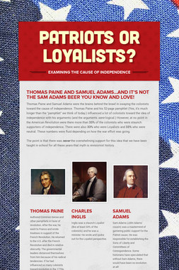 Patriots or Loyalists?