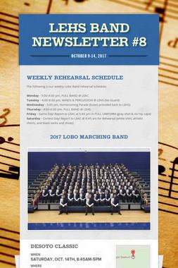 LEHS Band Newsletter #8
