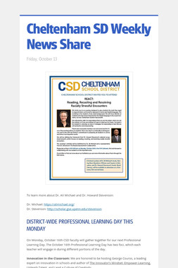 Cheltenham SD Weekly News Share