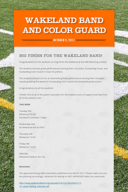 Wakeland Band and Color Guard