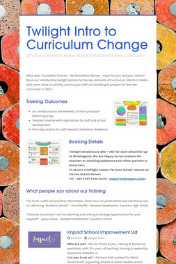 Twilight Intro to Curriculum Change